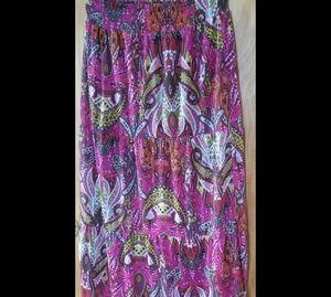 AGB Bohemian Style Maxi Skirt